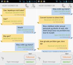 Contoh Pesan SMS Meragukan 1-2