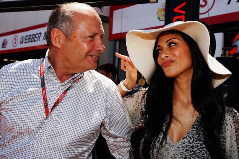 Рон Деннис и Николь Шерзингер на Гран-при Монако 2011