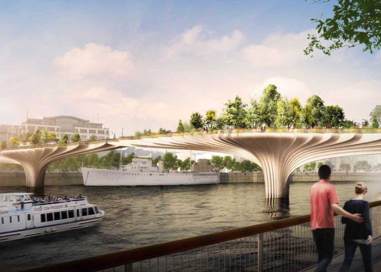Londra, Regno Unito: 'Garden Bridge' For London by Thomas Heatherwick