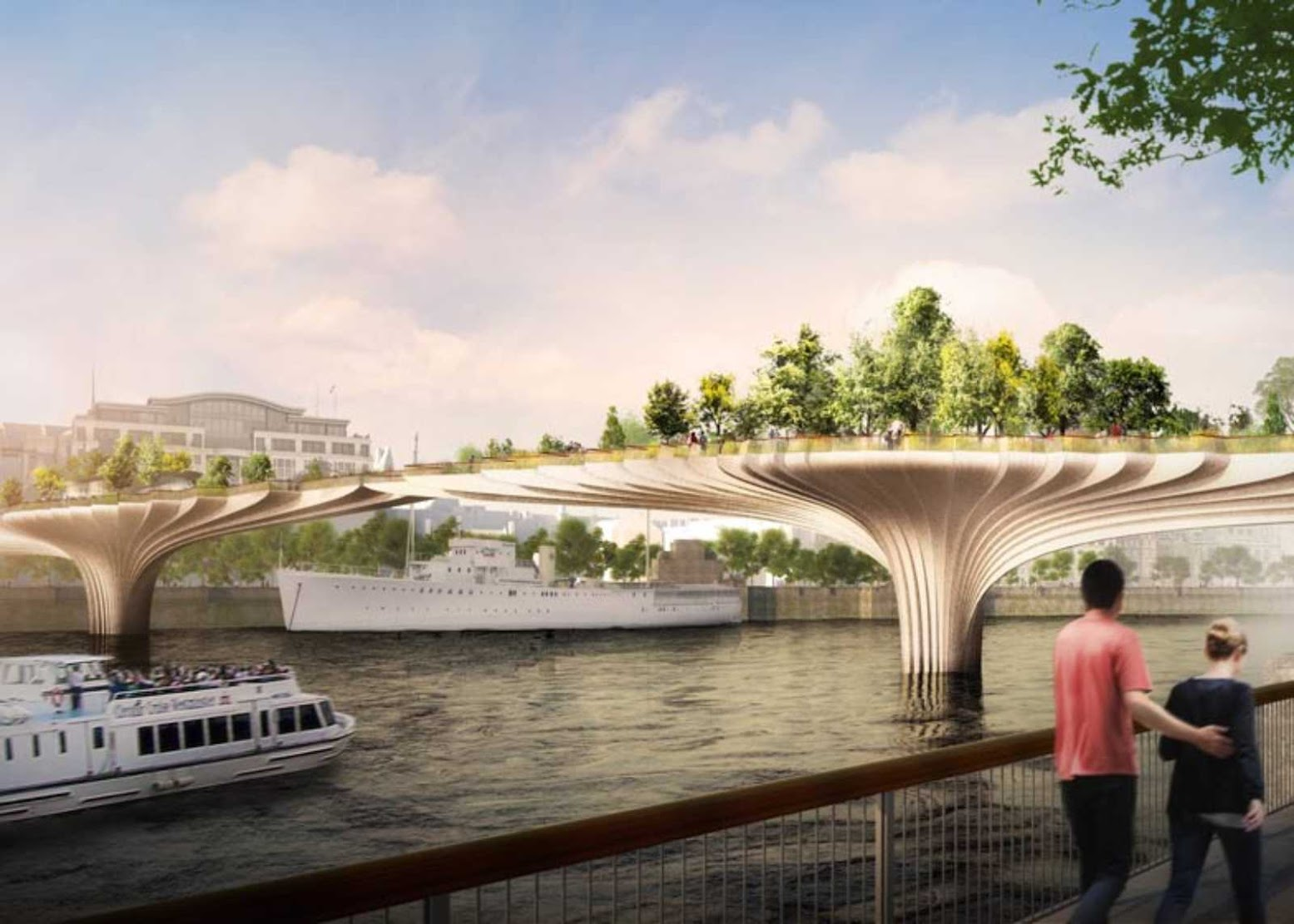 Londra, Regno Unito: ['GARDEN BRIDGE' FOR LONDON BY THOMAS HEATHERWICK]
