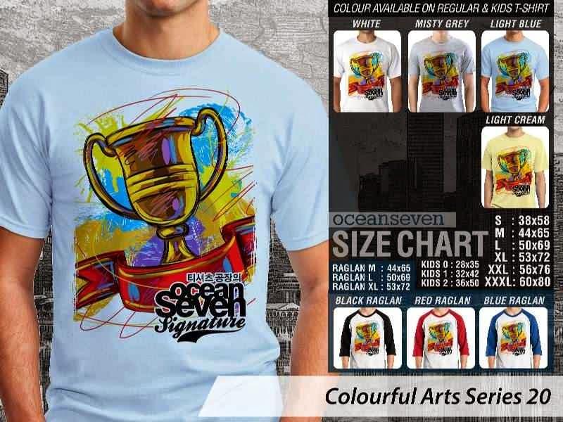 KAOS keren Colourful Arts Series 20 piala | KAOS Colourful Arts Series 20 distro ocean seven
