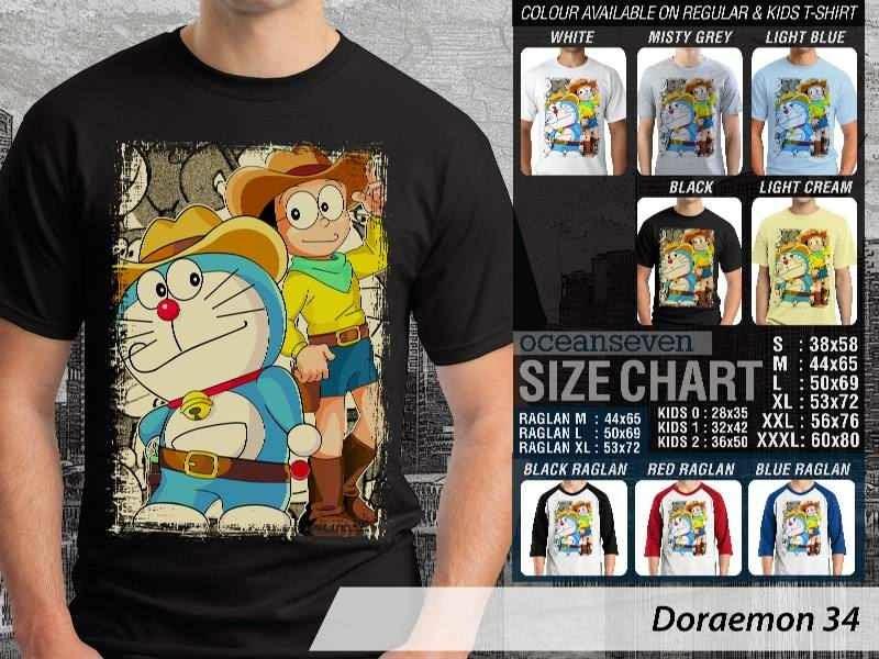 KAOS Doraemon 34 Manga Lucu distro ocean seven