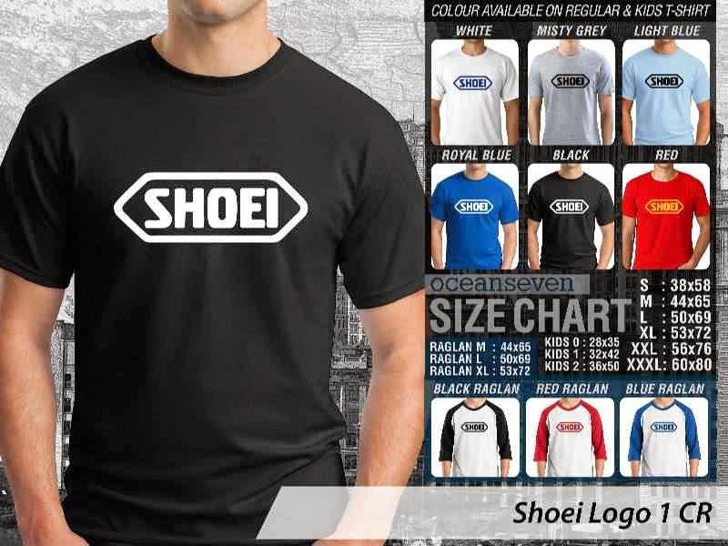 KAOS Shoei Logo Otomotif distro ocean seven