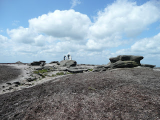 Nearing Kinder Low Summit Trig Point