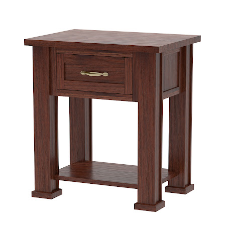 Matching Furniture Piece: Hagen Nightstand with Shelf, Smoky Walnut