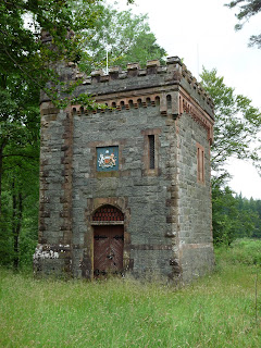 A tower at the back of Thirlmere dam. It didn't look like it was used much as everything was overgrown leading to it.