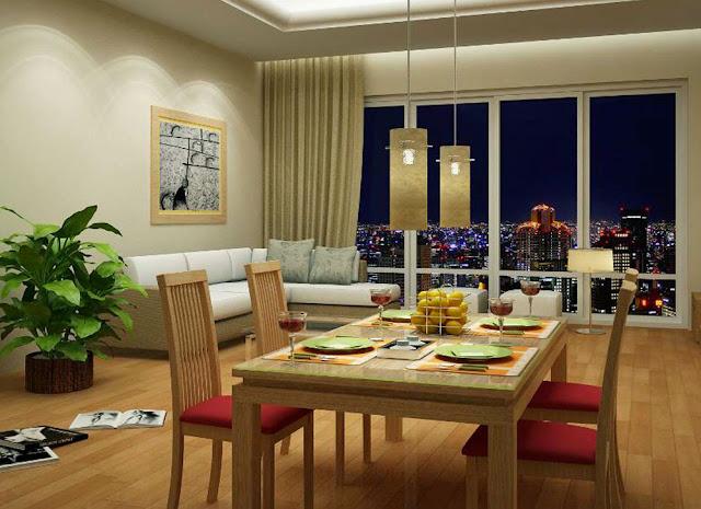 Phối cảnh căn hộ mẫu chung cư Xuân Mai Sparks Tower - Dương Nội