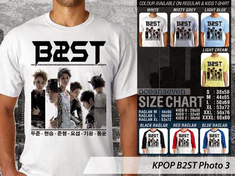 Kaos B2st 3 Photo K Pop Korea distro ocean seven