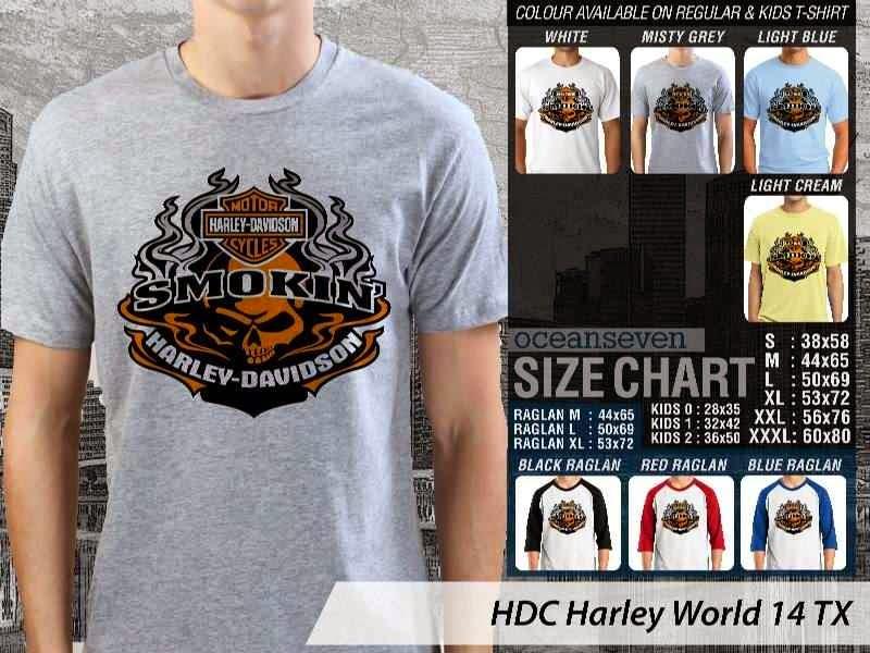 Kaos Motor Harley Davidson World 14 distro ocean seven