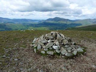Watsons Dodd Summit looking towards Keswick.