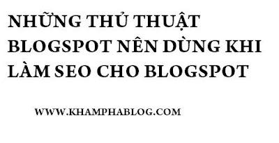 thủ thuật blogspot