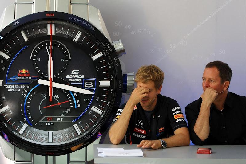 Мартин Брандл и Себастьян Феттель в викторине Speed and Intelligence на Гран-при Италии 2012
