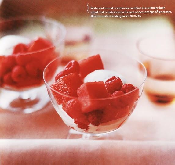 Watermelon-Raspberry Salad