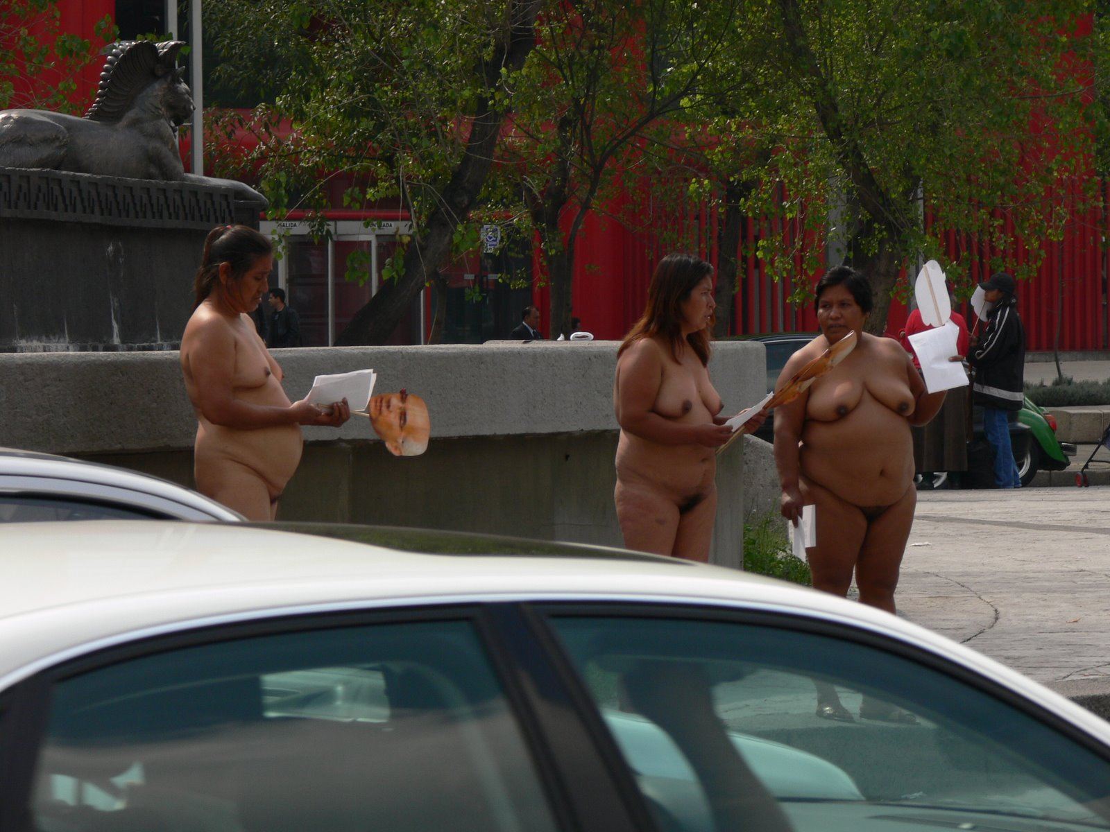 Public in Mexican nude