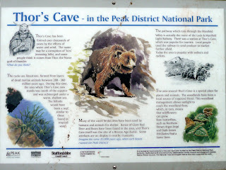 Thors Cave Information Board