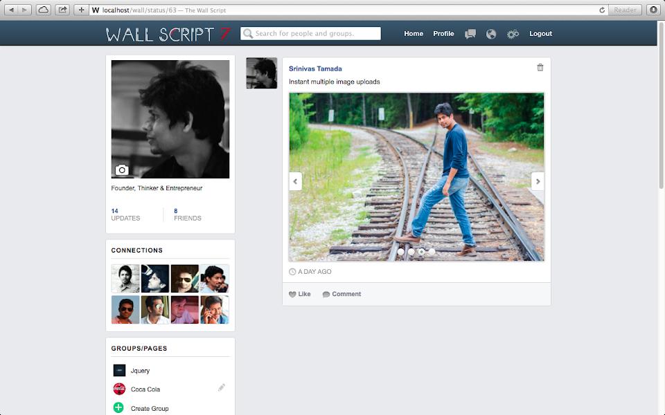 Social Network Script Friends