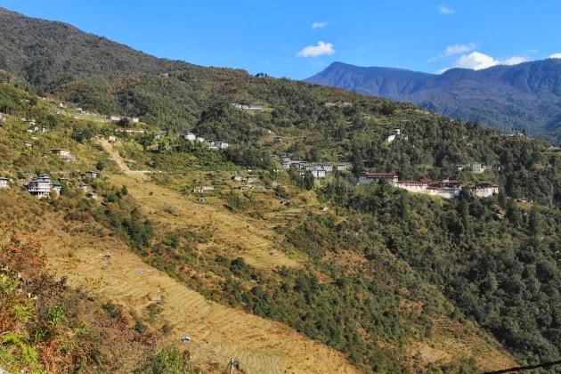 Trongsa Dzong and the Trongsa Landscape