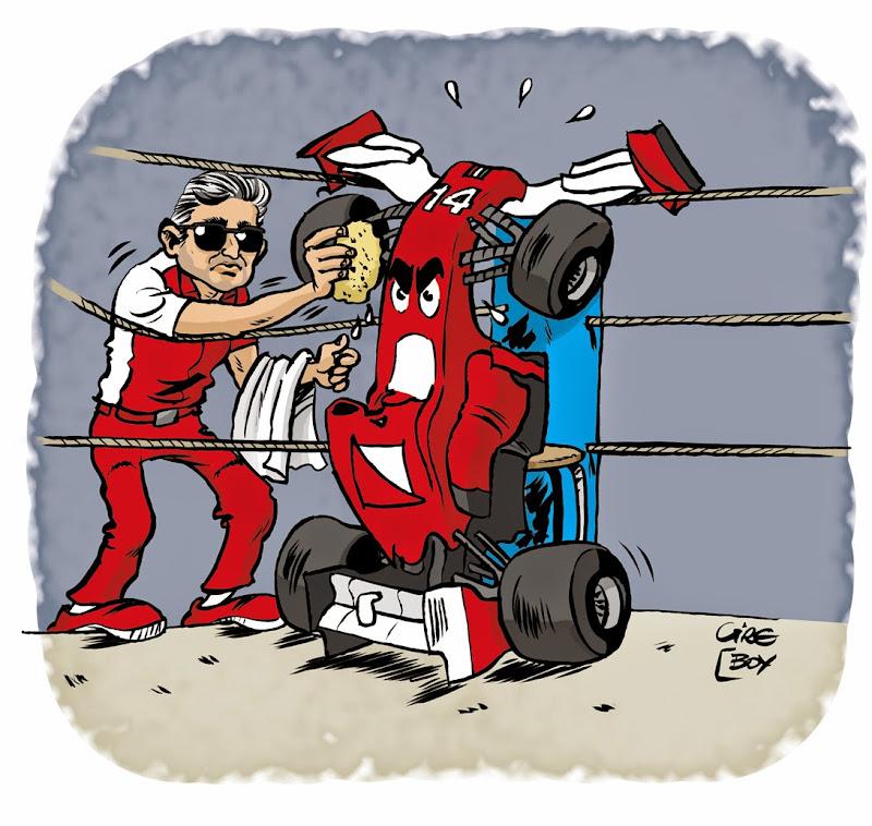 Марко Маттиаччи готовит Ferrari к битве на Барселоне - комикс Cirebox перед Гран-при Испании 2014