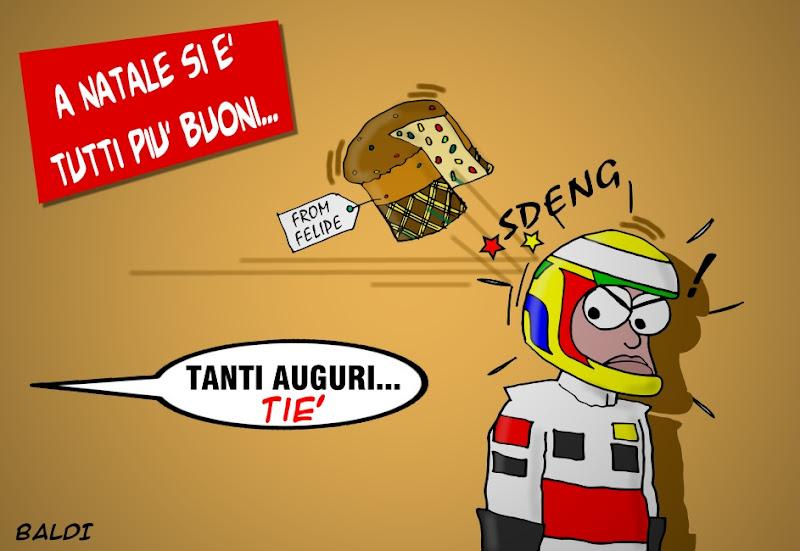 Фелипе Масса отправляет подарок Льюису Хэмилтону на Рождество - комикс Baldi