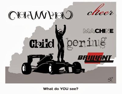 разные взгляды на Себастьяна Феттеля - комикс Stuart Taylor по Гран-при Индии 2013