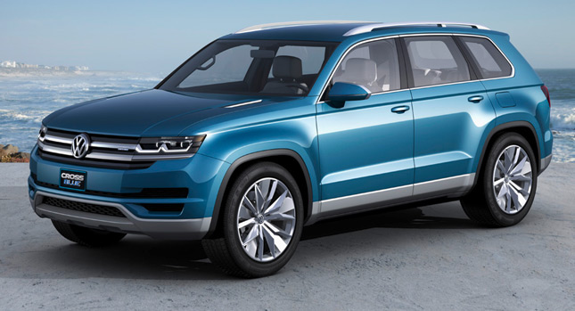 New Volkswagen Crossblue Seater Suv Concept In More Detail