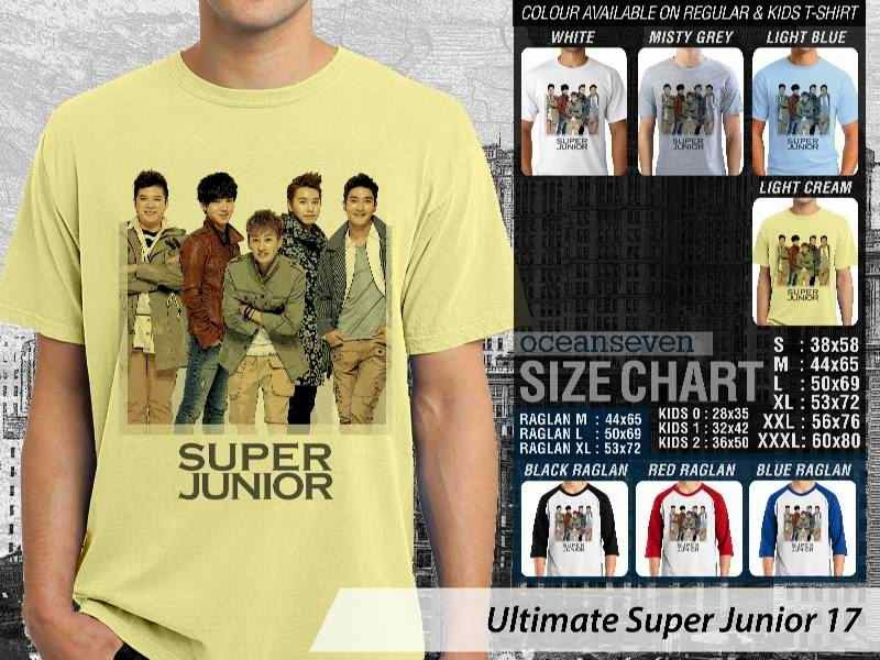 Kaos K Pop SUJU Ultimate Super Junior 17 Boy Band Asal Korea distro ocean seven