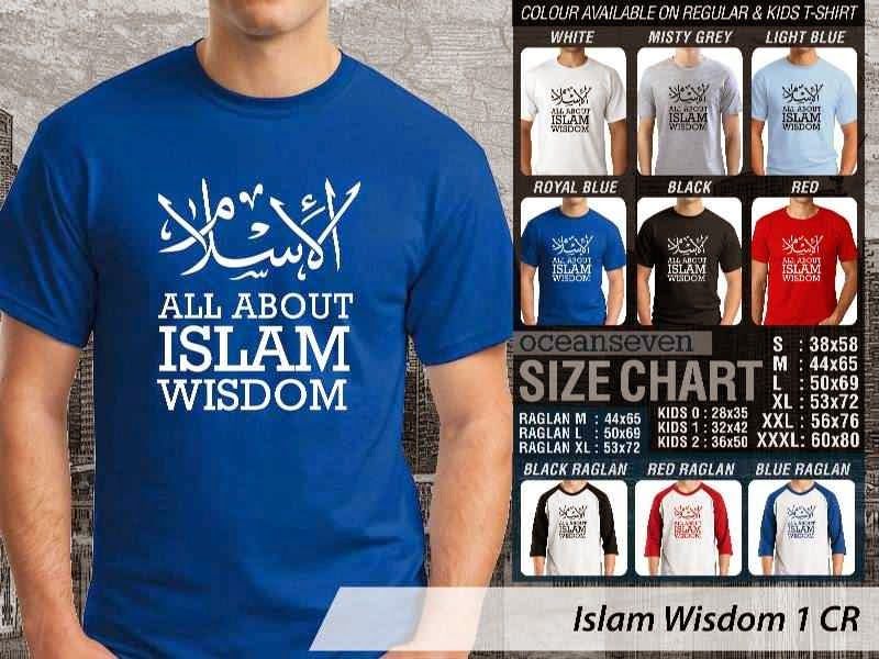 Kaos Muslim Islam Wisdom 1 All about Islam Wisdom distro ocean seven