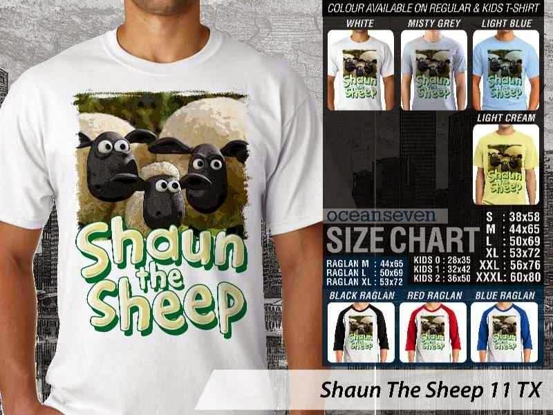 Kaos Movie Shaun The Sheep 11 distro ocean seven