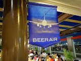 The Beer Air beer garden at Fukuoka airport