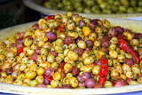 Seasoned Olives At The Habbous Quarter Market - Casablanca, Morocco