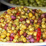 Seasoned Olives At The Habbous Quarter Market - Casablanca, Morocco