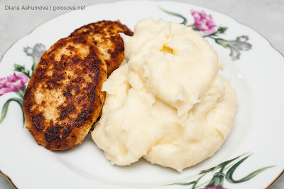котлета с картофельным пюре