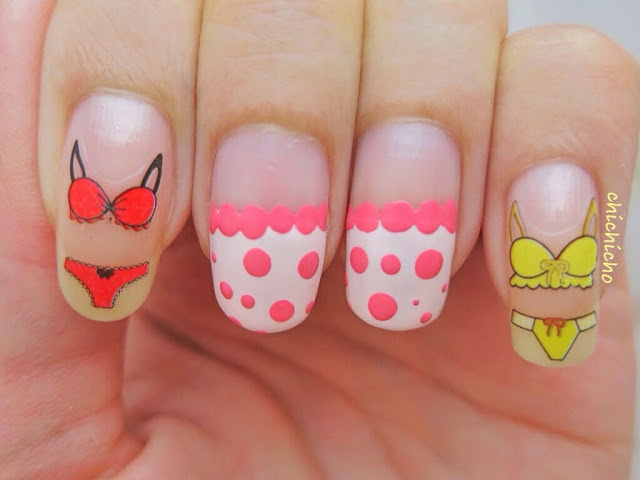 Bikinis Summer Water Decal Nail Art