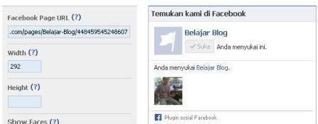 Cara Membuat facebook like box di blog