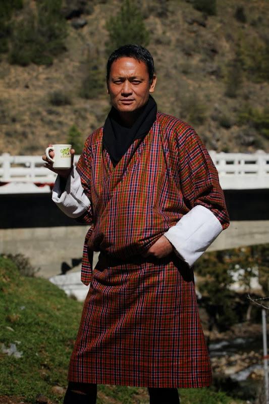 Bhutan Taxi Driver poses at Chuzom
