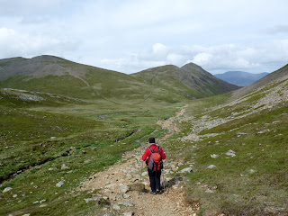 Walking towards Coledale Hause.