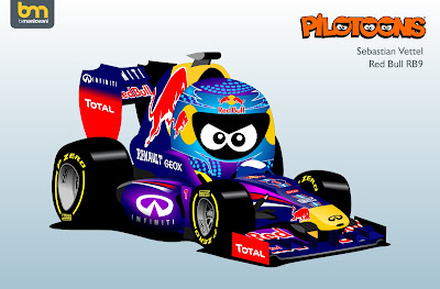 Себастьян Феттель Red Bull RB9 pilotoons 2013