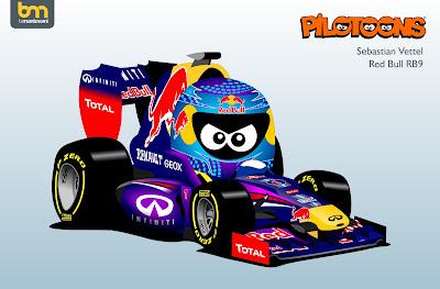 Себастьян Феттель Red Bull RB9 pilotoons 2013