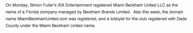 Screen+Shot+2013 12 11+at+10.44.30 Miami Beckham United: is this the name of David Beckhams new MLS team?