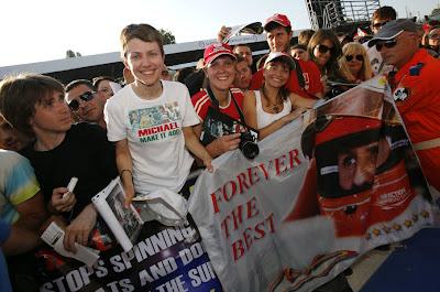 болельщики Михаэля Шумахера на Гран-при Италии 2012