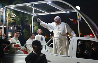 Image of Signal was cut off during Pope Francis visitation