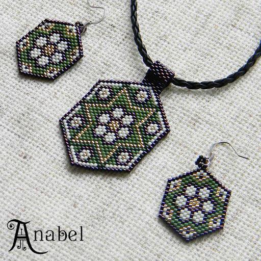 серьги ромашки из бисера делика мозаика Anabel