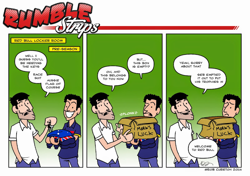 Даниэль Риккардо занимает месть Марка Уэббера в Red Bull - комикс Rumble Strips