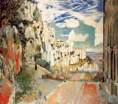 Joaquim Mir - Camino de la Cueva. Montserrat.