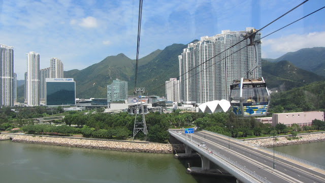 Departing Tung Chung on the Ngong Ping 360.