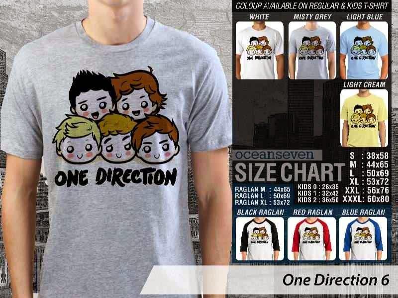 Jual kaos 1D One Direction 18 Musik Boy Band