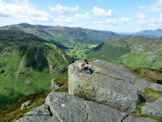 Eagle Crag Summit looking to Borrowdale.