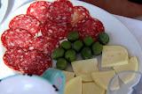 Salami, Olives, and Cheese - Pontone, Italy