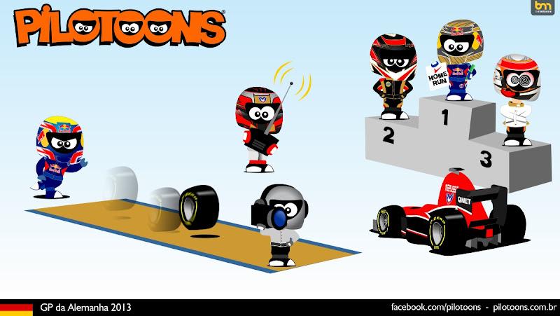 комикс pilotoons по Гран-при Германии 2013