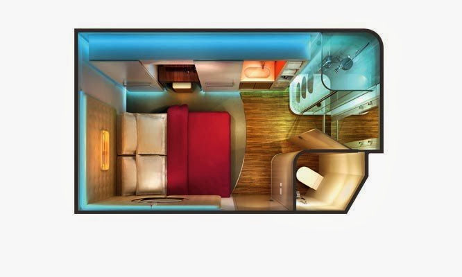 Norwegian Epic - Studio Stateroom ( Layout )